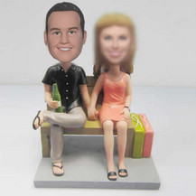 Customized Dad with Mom bobbleheads