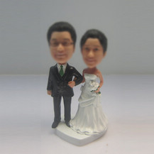 Bobbleheads custom Bra wedding wedding cake