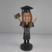 Customized female Graduation bobbleheads