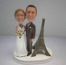 funny wedding cake bobble heads custom
