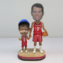 Customized Dad and son bobble heads