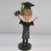 Personalized custom male Graduation bobbleheads
