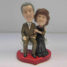 Customized Dad and Mom bobbleheads