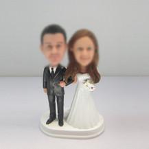 funny wedding cake bobblehead doll