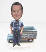 Personalized custom man with Truck bobbleheads