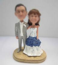 happy wedding cake custom bobbleheads