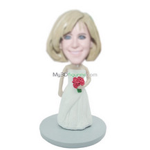 Personalized custom Bride bobbleheads
