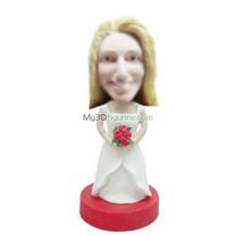 Personalized custom Bride bobble head