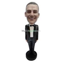 custom black suit bobble heads