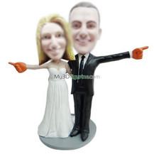 Personalized custom wedding bobblehead doll