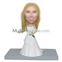 Personalized custom Bride bobblehead