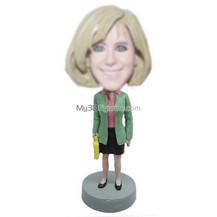 custom office woman bobbleheads