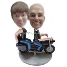 Personalized custom moto couple bobbleheads