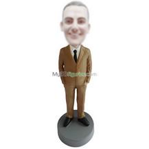 custom brown suit man bobbleheads