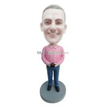 custom pink shirt man bobbleheads