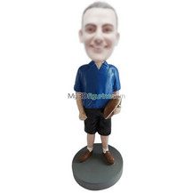 custom hold Rugby man bobbleheads