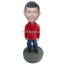 custom red shirt boy bobbleheads