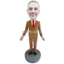 Personalized custom suit man bobble head