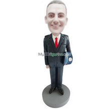 Personalized custom suit man bobblehead doll