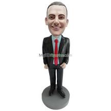 custom suit man bobblehead doll
