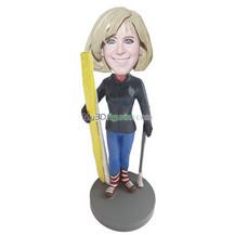Personalized custom Skiing Women bobbleheads