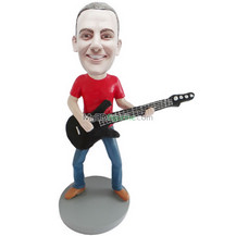 custom man with guitar bobble head