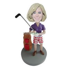 custom female golf bobbleheads