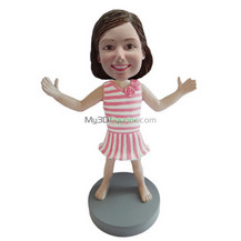 custom cute girl bobble heads