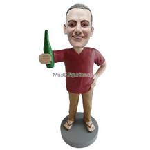 custom man hold beer bobblehead