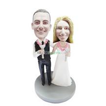 Customized wedding bobbleheads