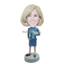 custom office woman bobble head