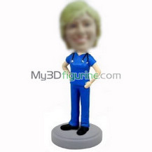 Customized female doctor bobbleheads