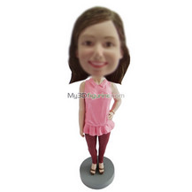 Customized Fashionable girl bobbleheads