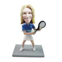Customized female Tennis bobbleheads