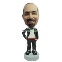 custom black suit man bobblehead