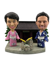 Japanese Theme Bobblehead Couple