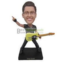 fashion young man with his guitar bobbleheads