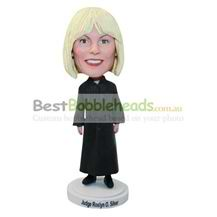 custom birthday gift woman judge bobbleheads