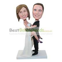 custom couple bobbleheads for wedding
