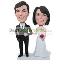 custom handmade wedding cake topper bobbleheads