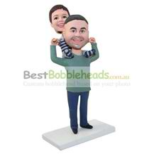custom made son and father bobbleheads family bobbleheads