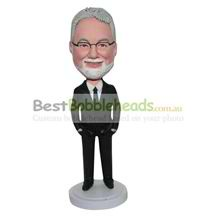 custom man in suit bobbleheads personalized