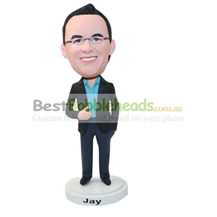 custom office manager in suit bobbleheads