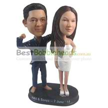 custom the man and his beautiful wife bobbleheads