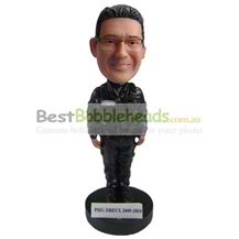 custom the man dresses in a black coat bobbleheads