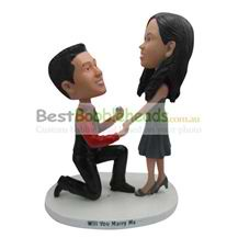 custom the man is to woman to marry him bobbleheads