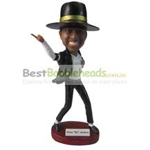 custom the man wears a big hat bobbleheads