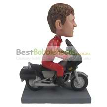 custom the red man is driving motorcycles bobbleheads