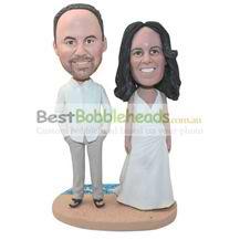 personalized bride and bridegroom wedding bobbleheads
