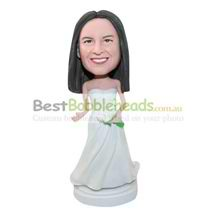 personalized custom bride wedding bobbleheads